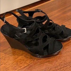Black Aerosoles heelrest gladiator sandals